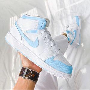 Nike custom air jordan 1 mid sneakers